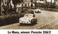 Porsche 356/2 en Le Mans