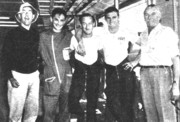 Daytona '61: Geoffrey, Oreste, Dahler, Mike Hailwood, y S. Hailwood