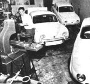 El taller en su casa y los Gordini